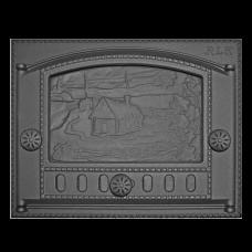 Дверка топочная каминная ДК-2Б, «Домик в деревне»