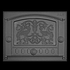 Дверка топочная каминная ДК-2Б, «Грифоны»