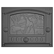 Дверка топочная каминная ДК-2Б, «Природа»