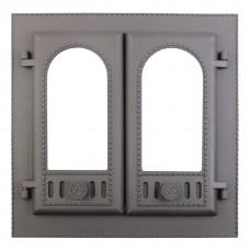 Дверка топочная каминная ДК-6С, «Горница», под стекло